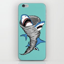 Shark Tornado iPhone Skin