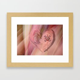 The painful past Framed Art Print