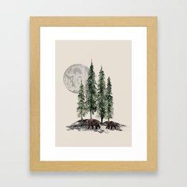 Full Moon Rising Gerahmter Kunstdruck
