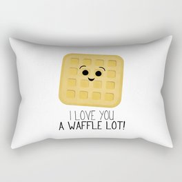I Love You A Waffle Lot! Rectangular Pillow