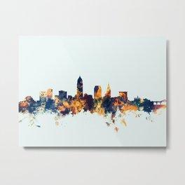 Cleveland Ohio Skyline Metal Print