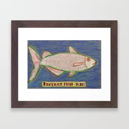 protect fish kin Framed Art Print