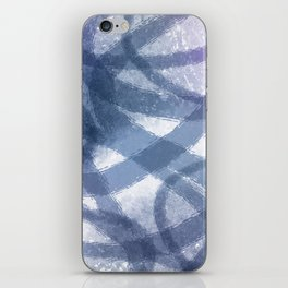 Blue Purple Watercolor Circles iPhone Skin