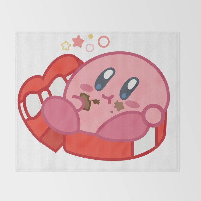 Kirby + Chocolate Throw Blanket by splitdesign | Society6