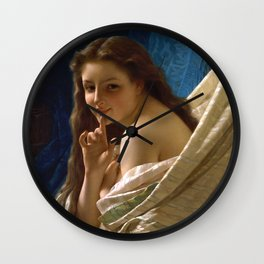 """Pierre Auguste Cot """"Portrait Of Young Woman"""" Wall Clock"""