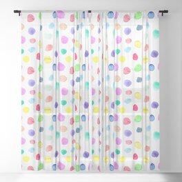 Watercolor confetti Sheer Curtain