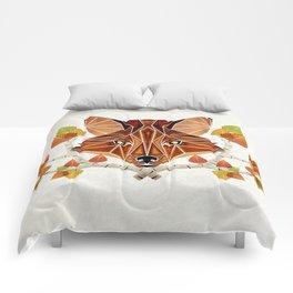 fox autumn Comforters