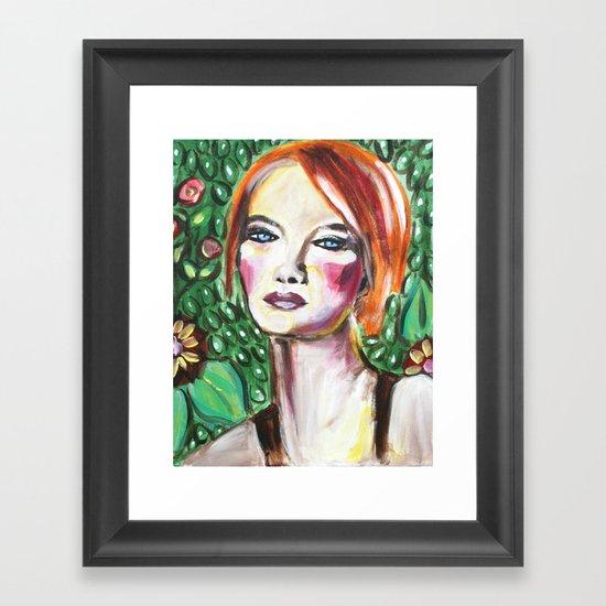 VanGogh Girl Framed Art Print