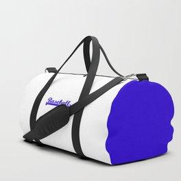 Baseball Royal Blue Typography Duffle Bag
