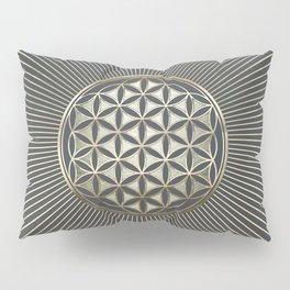 Flower of life metallic embossed Pillow Sham