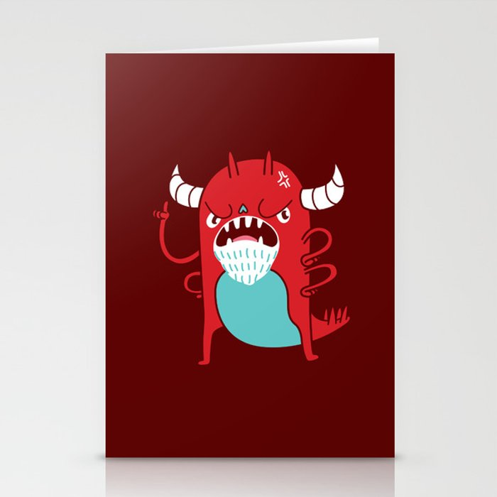 Monster Nagging Stationery Cards