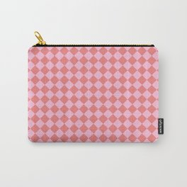 Cotton Candy Pink and Coral Pink Diamonds Carry-All Pouch