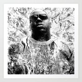 RIP BIGGIE (BLACK & WHITE VERSION) Art Print