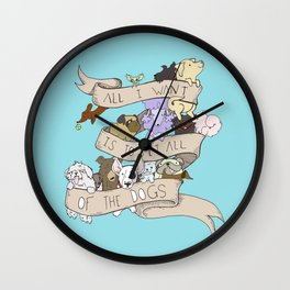 All the Dogs in Color Wall Clock