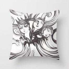 Caída al vacío Throw Pillow