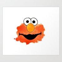 elmo Art Prints featuring ElmO by Cookstar