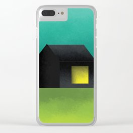 Simple Housing | House in a lowland Clear iPhone Case