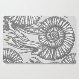 AMMONITE COLLECTION GRAY Cutting Board