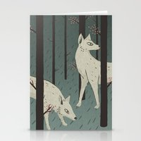 wolves Stationery Cards featuring Wolves by James White