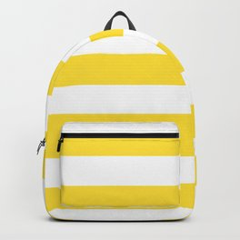 Banana yellow - solid color - white stripes pattern Backpack
