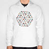 hexagon Hoodies featuring Hexagon by Pavel Saksin