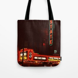 Night Lights State Street Theater, Ithaca NY Tote Bag