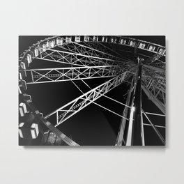 Light on Ferris Wheel Metal Print