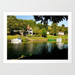 River Bank View Art Print