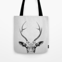 Deer - Black & White Tote Bag