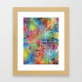 Boulder Colorado City Map Framed Art Print