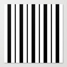 Black & White Stripes - Thick & Thin Canvas Print