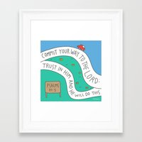 bible Framed Art Prints featuring bible message by ssongso