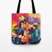 sword Tote Bags featuring pattern sword by Alexandr-Az
