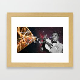 Louis Light (Louis Armstrong Space Collage) Framed Art Print