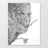 salvador dali Canvas Prints featuring Salvador Dali by Ina Spasova puzzle