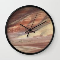 minerals Wall Clocks featuring Hills Painted by Earth Minerals by Leland D Howard