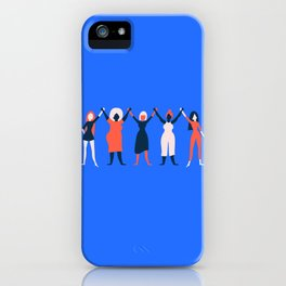 Girl Gang - Blue iPhone Case