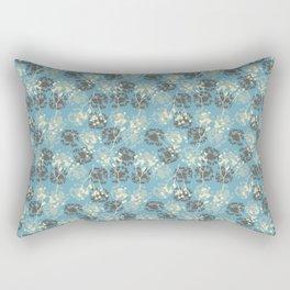 Seeds on blue Rectangular Pillow