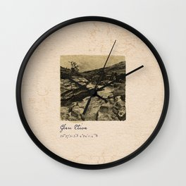 TRAVEL JOURNAL / Scotland, Glen Etive Wall Clock
