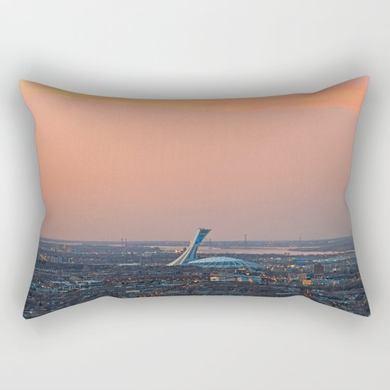 Montreal Twilight Rectangular Pillow