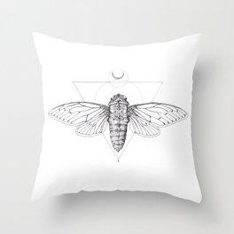 Midnight Cicada Throw Pillow