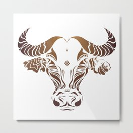 Protect the Nepal Buffalo by #Bizzartino Metal Print