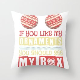 Breasts Sexy Christmas Rotten Tits Gift Throw Pillow