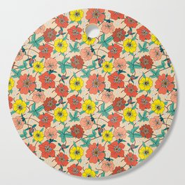 Potentillas and Daisies Cutting Board
