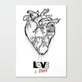 Heart Of Hearts: Outline & Stuff Canvas Print