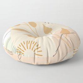 Abstract in Muted Tones 2 Floor Pillow
