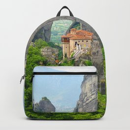 Christian Orthodox monastery of Meteora, Greece Backpack