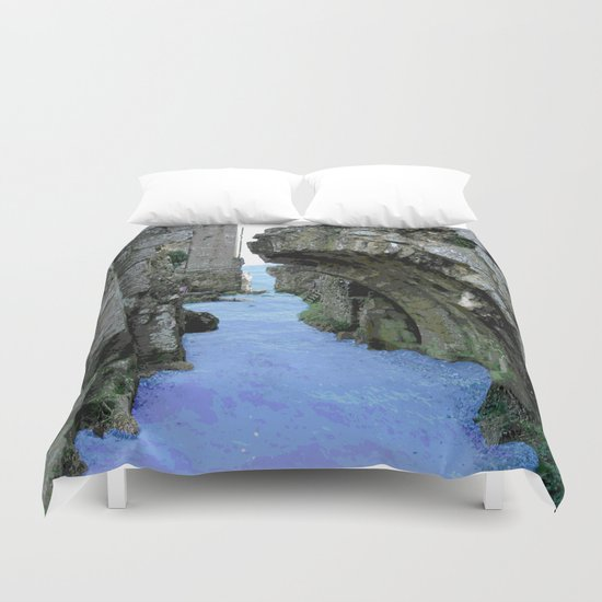 Then the sea crept in... Duvet Cover