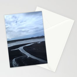 Black sand and Ice Stationery Cards