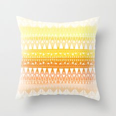 Triangle Gradient Gold Mix Throw Pillow